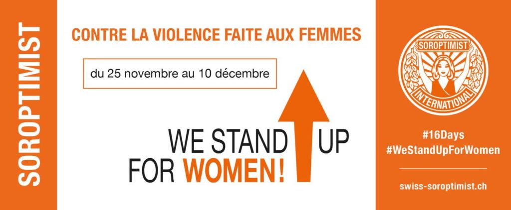 bannière we stand up for women !
